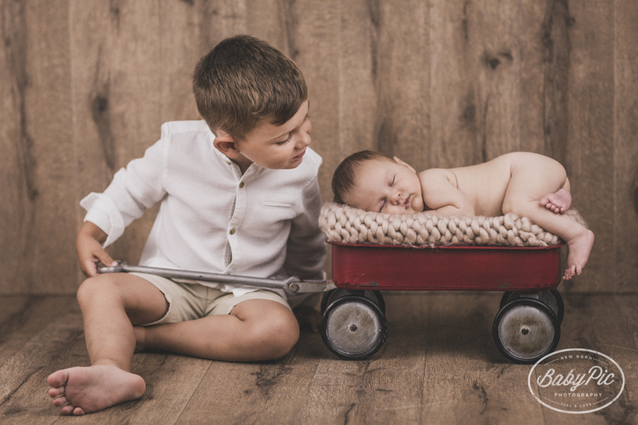 fotos newborn y hermanos